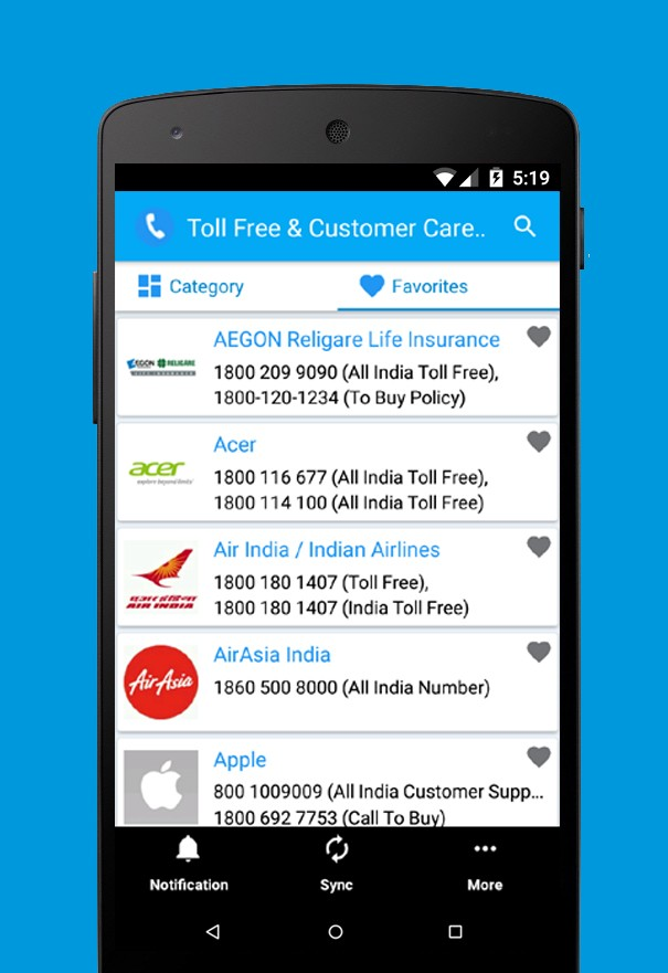 toll free & Customer App