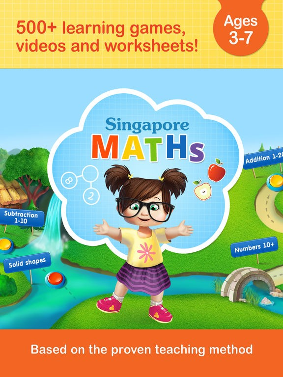 #1 Math Games: Singapore Maths App