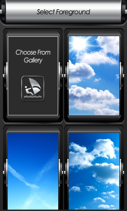 Blue Sky Zipper Lock Screen