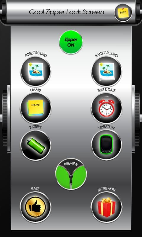 Cool Zipper Lock Screen