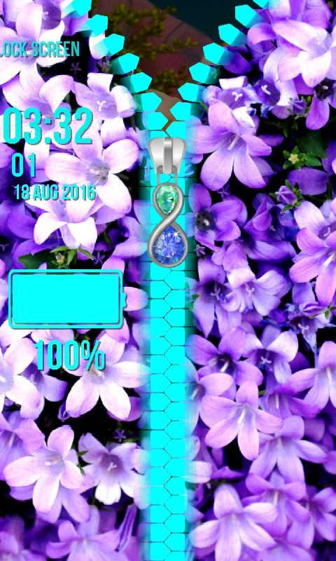 Flowers Zipper Lock Screen