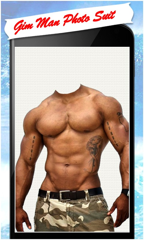 Gym Body Man Photo Suit Free