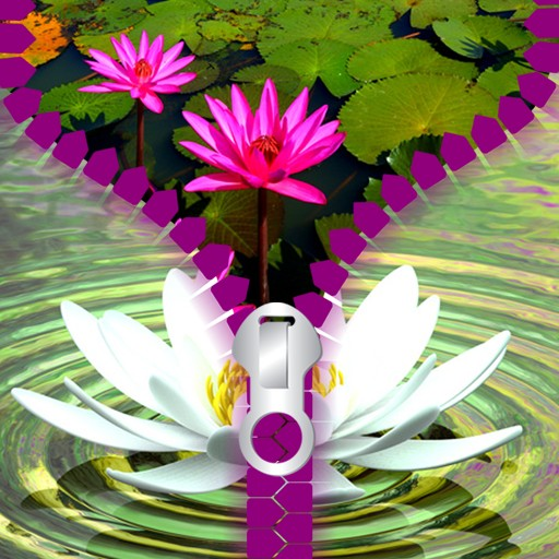Lotus Zipper Lock Screen