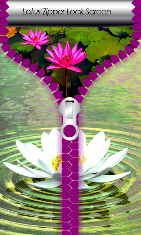 Lotus Zipper Lock Screen