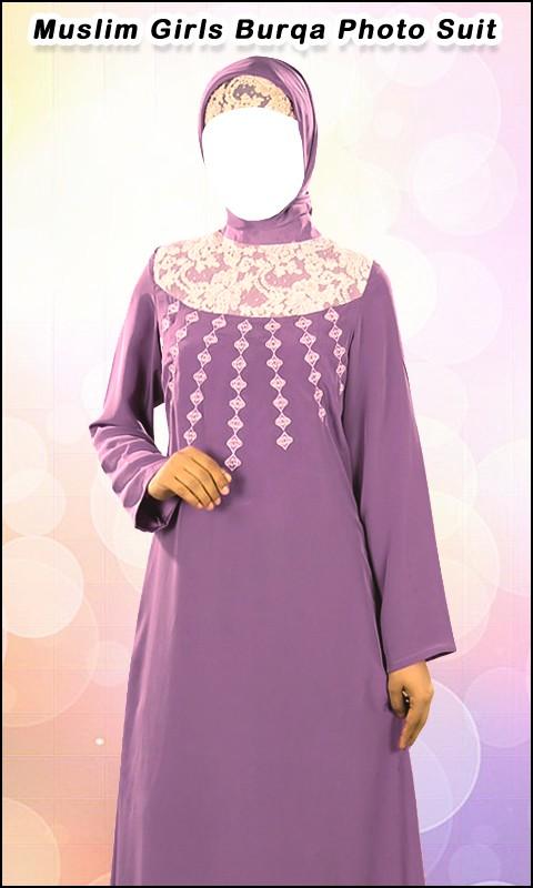 Muslim Girls Burqa Photo Suit