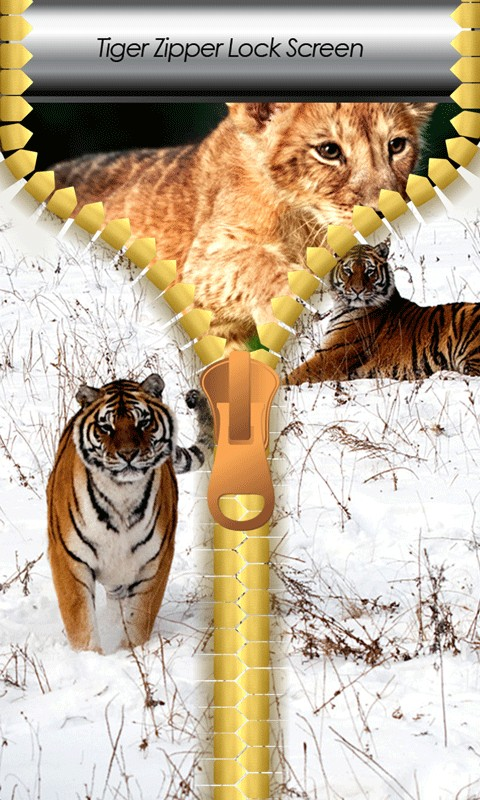 Tiger Zipper Lock Screen