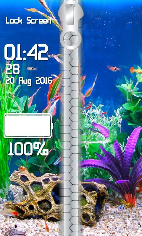 Aquarium Zipper Lock Screen