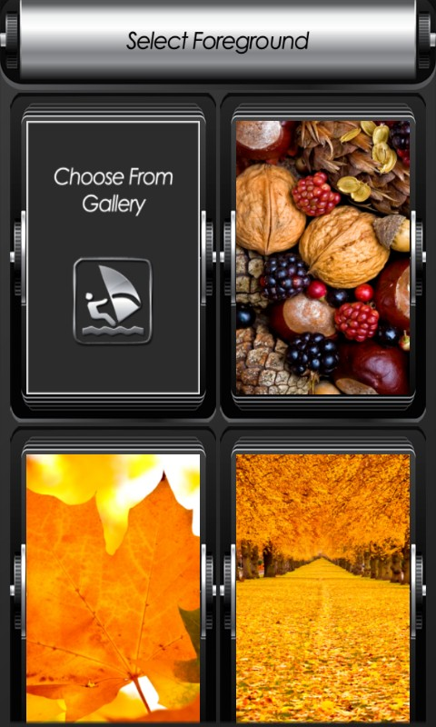 Autumn Zipper Lock Screen