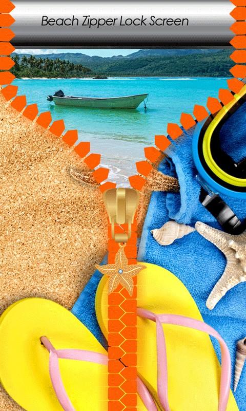Beach Zipper Lock Screen