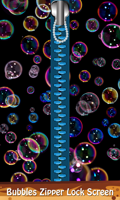 Bubbles Zipper Lock Screen