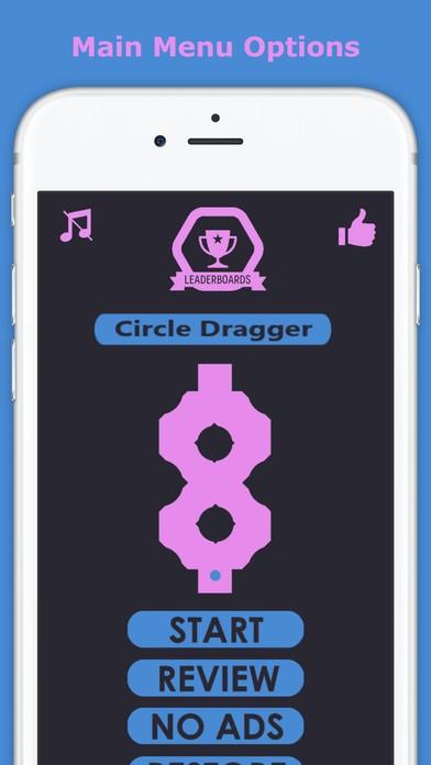 Circle Dragger - Beware Black Dots And Obstacles