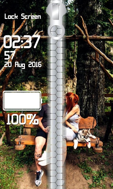 Couple Zipper Lock Screen