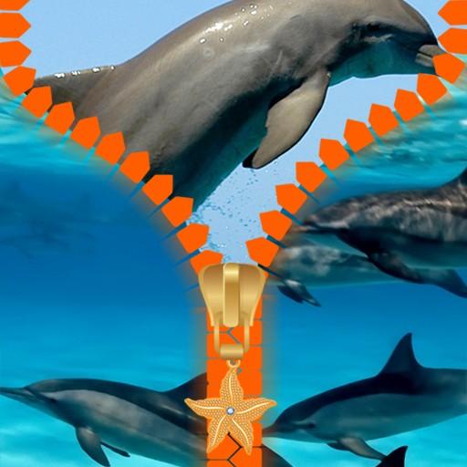 Dolphins Zipper Lock Screen