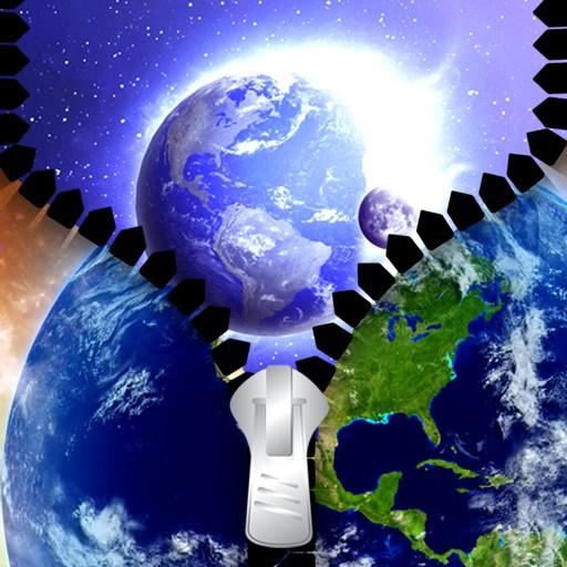 Earth Zipper Lock Screen