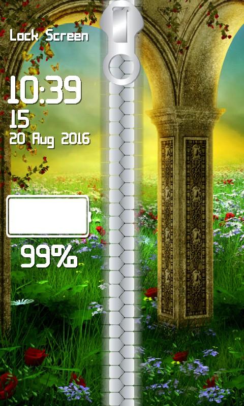 Fairy Tale Zipper Lock Screen