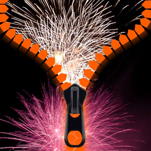Fireworks Zipper Lock Screen