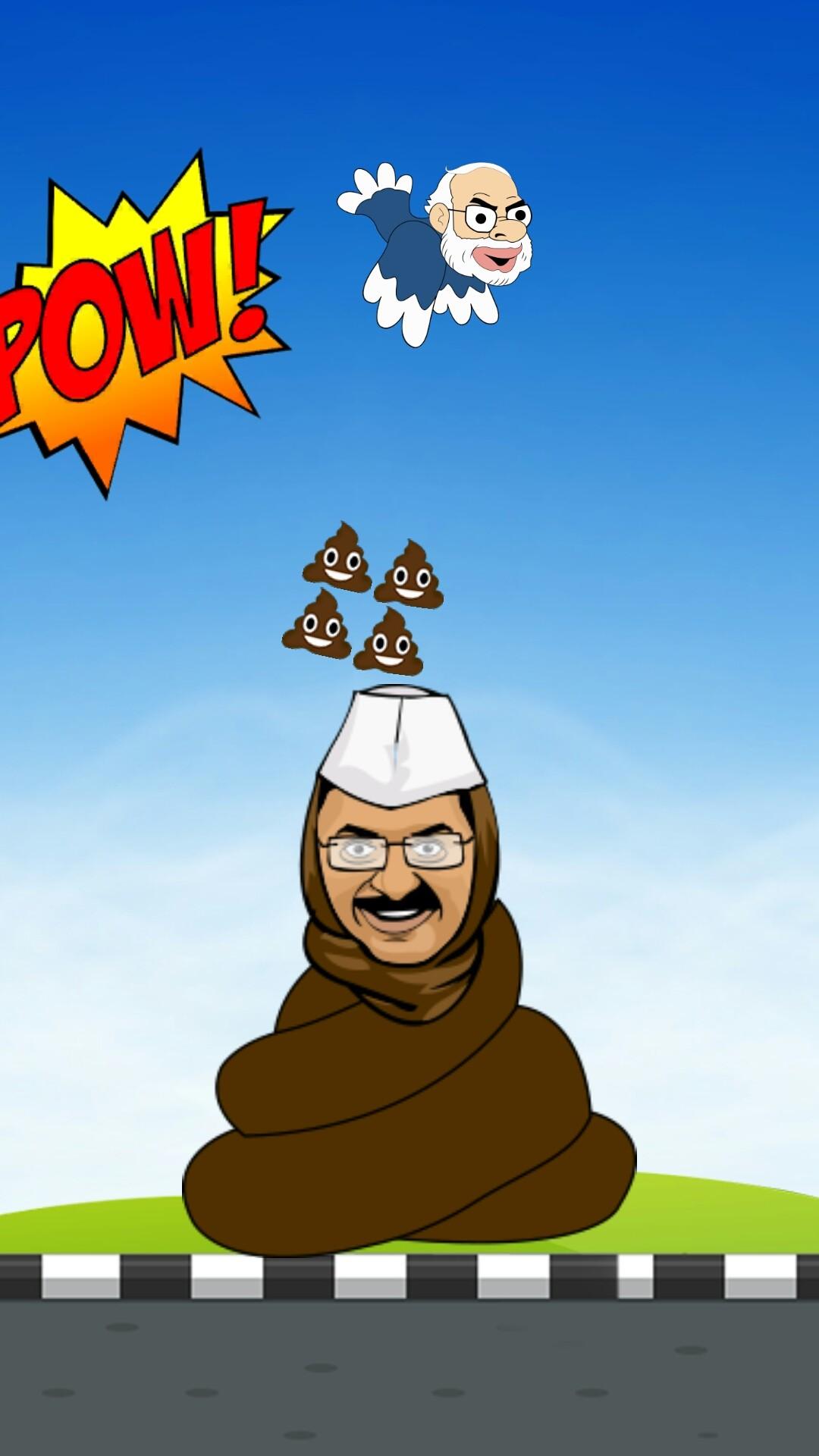 Flying Modi dump Kejri