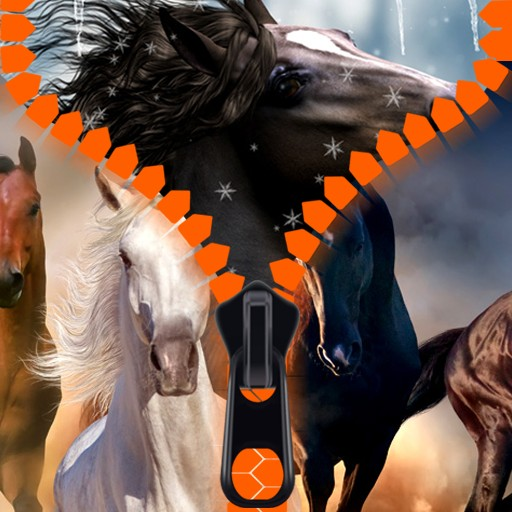 Horses Zipper Lock Screen