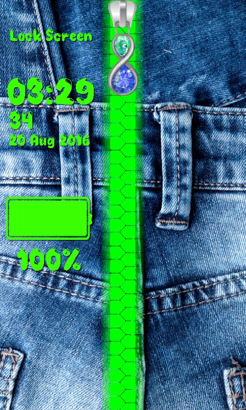 Jeans Zipper Lock Screen
