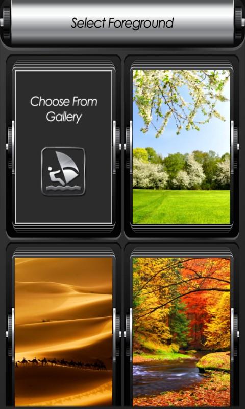 Landscape Zipper Lock Screen