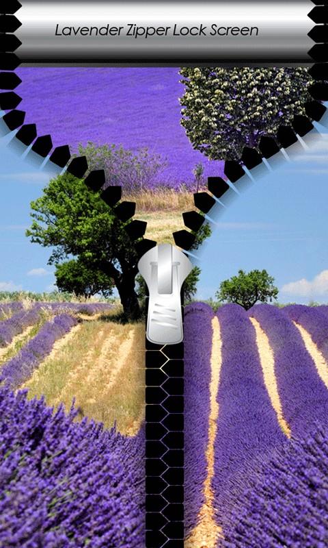 Lavender Zipper Lock Screen