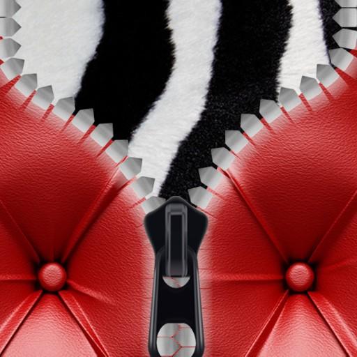 Leather Zipper Lock Screen