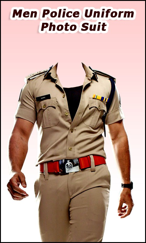 Men Police Uniform Photo Suit