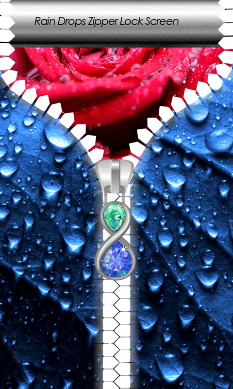 Rain Drops Zipper Lock Screen
