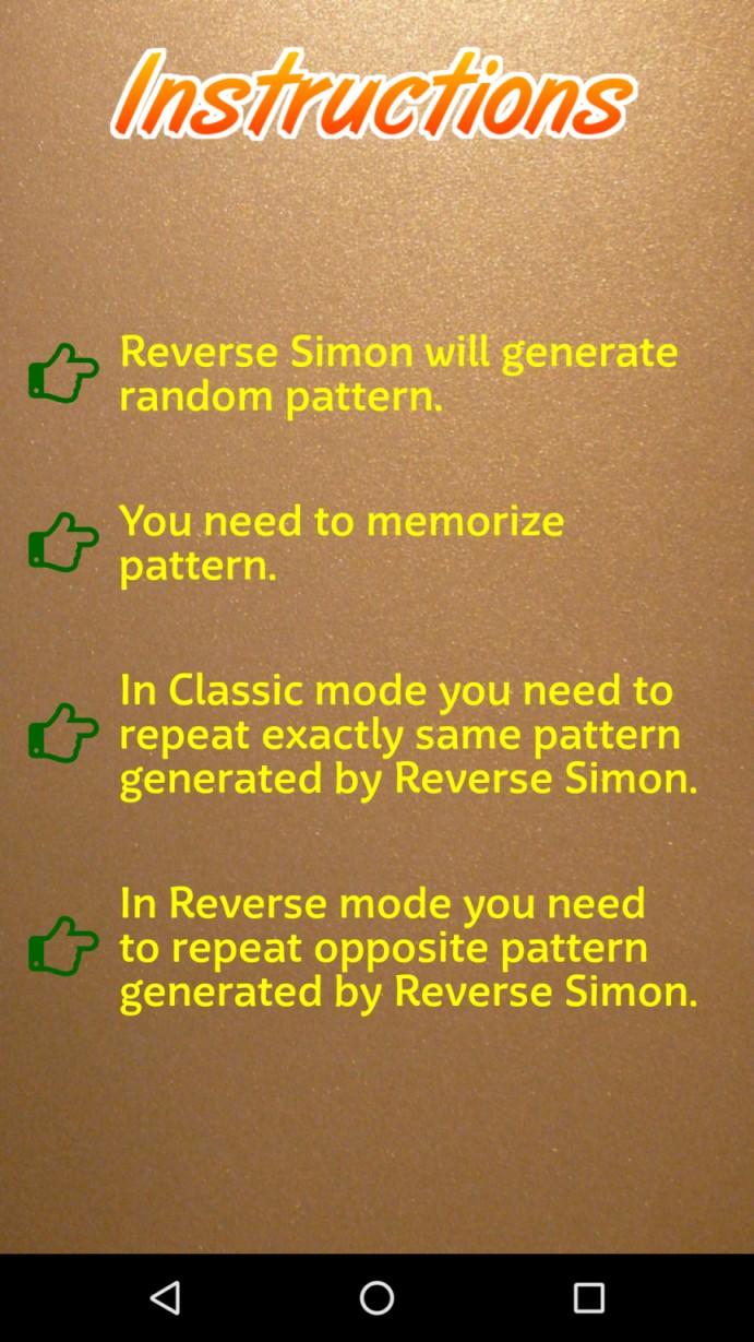 Reverse Simon - Memory Test