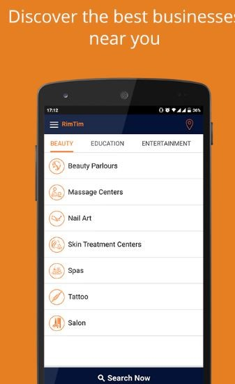 RimTim - Search Shop, Shopping mall, Hopitals, NGO, Movie Halls, Agents and beauty parlours