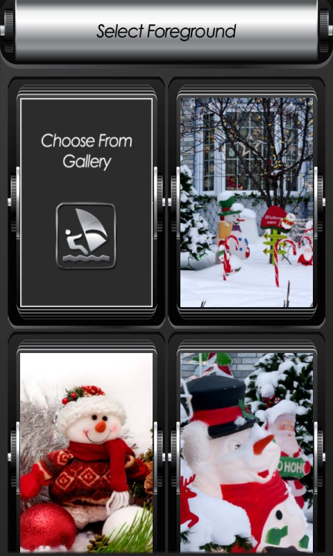 Snowman Zipper Lock Screen