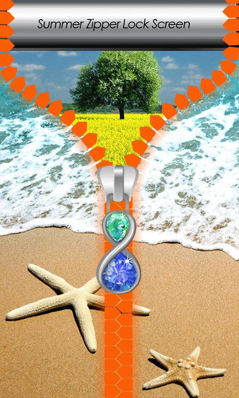 Summer Zipper Lock Screen
