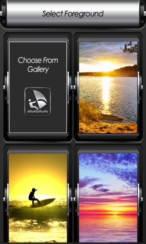 Sunset Zipper Lock Screen