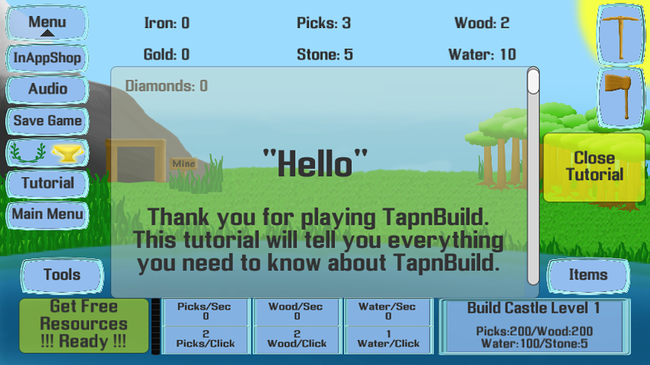TapnBuild -A Free Clicker Game