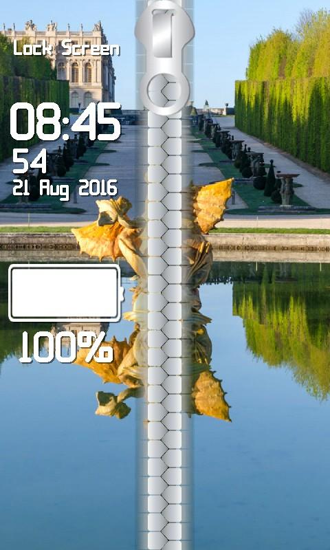 Top Paris Zipper Lock Screen