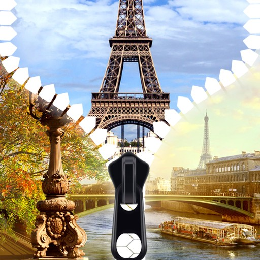 Top Paris Zipper Lock Screen