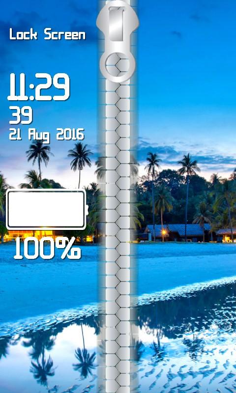 Tropical Paradise Lock Screen