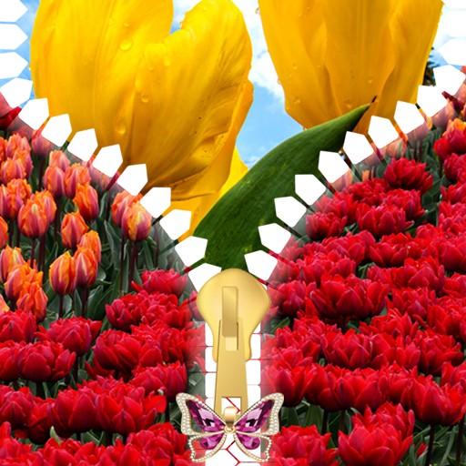 Tulips Zipper Lock Screen
