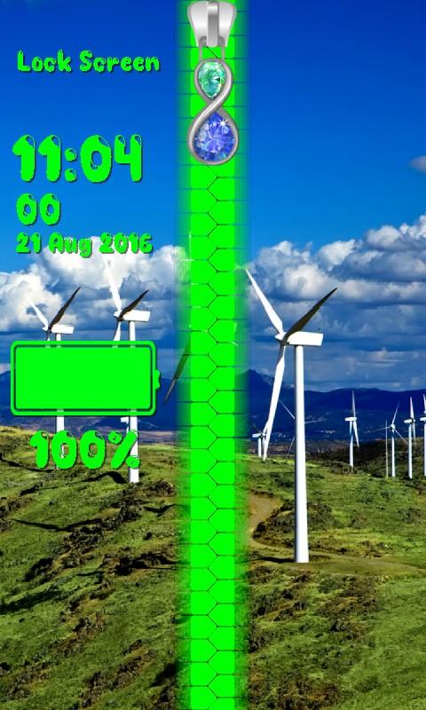 Windmill Zipper Lock Screen