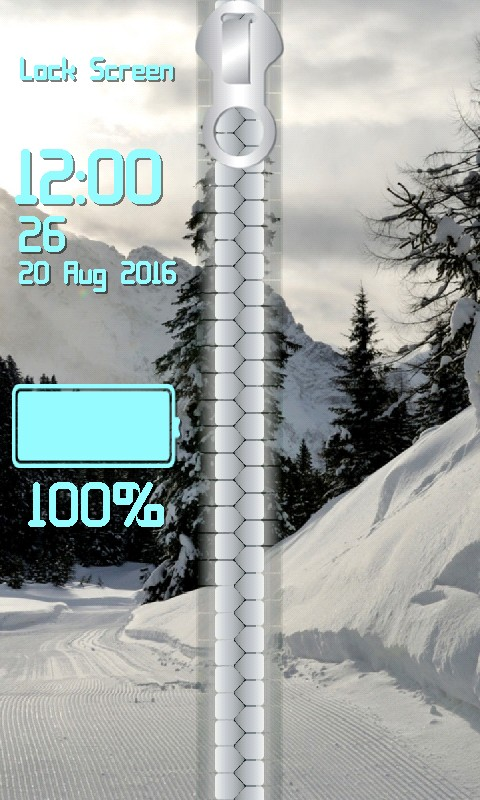 Winter Zipper Lock Screen