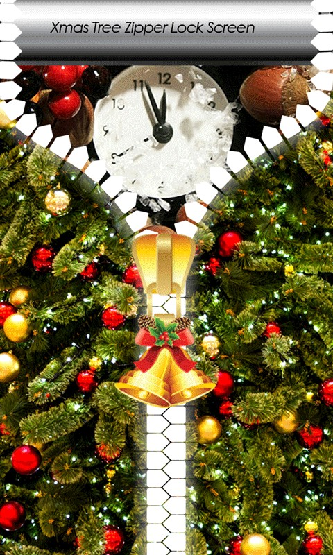 Xmas Tree Zipper Lock Screen