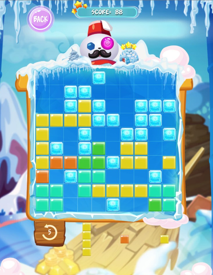 Block Puzzle Winter : New Year