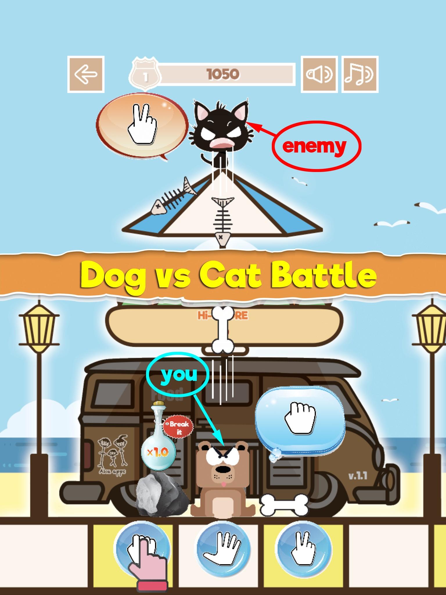 Dog vs Cat RPS Battle
