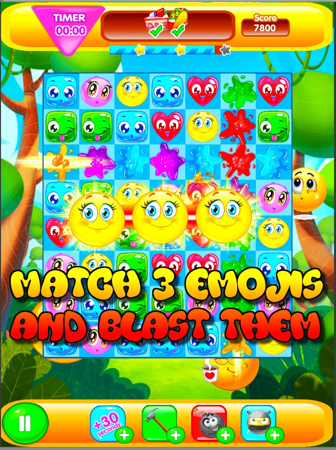 Emoji Explosion: Match 3 Blast