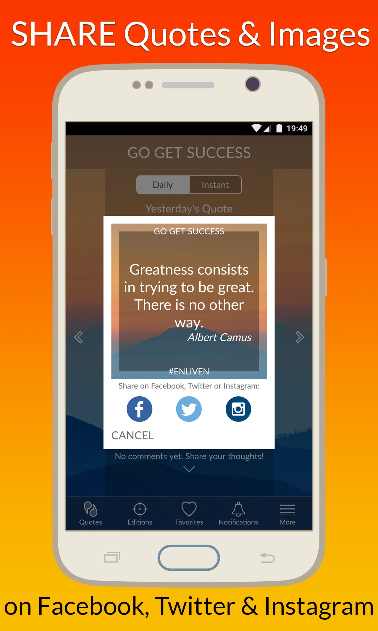 ENLIVEN Daily Motivational Quotes App