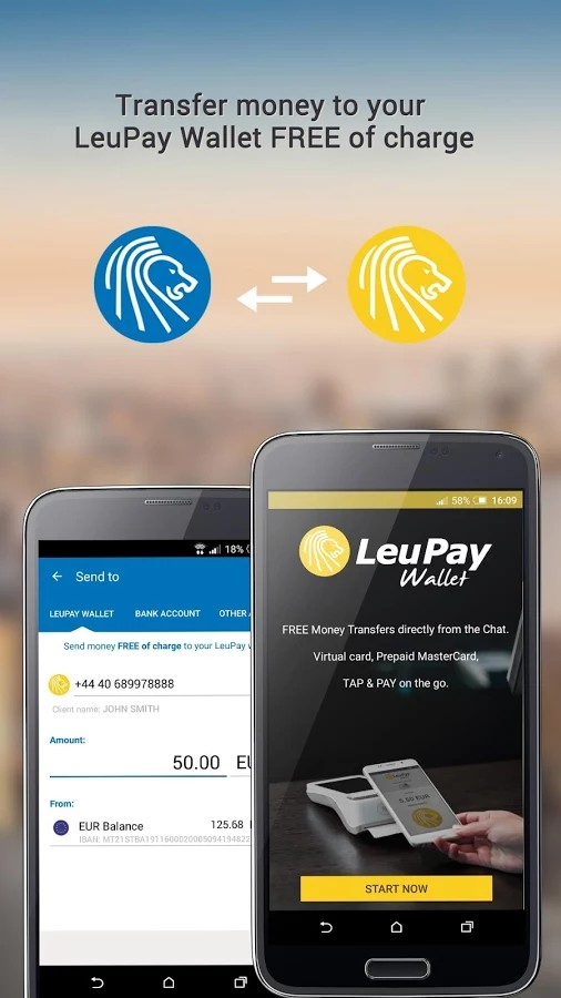 LeuPay mobile banking solution - for Android, iOS, Windows