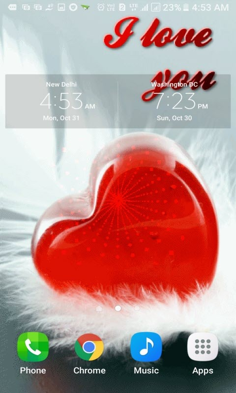 Red Heart Waves LWP