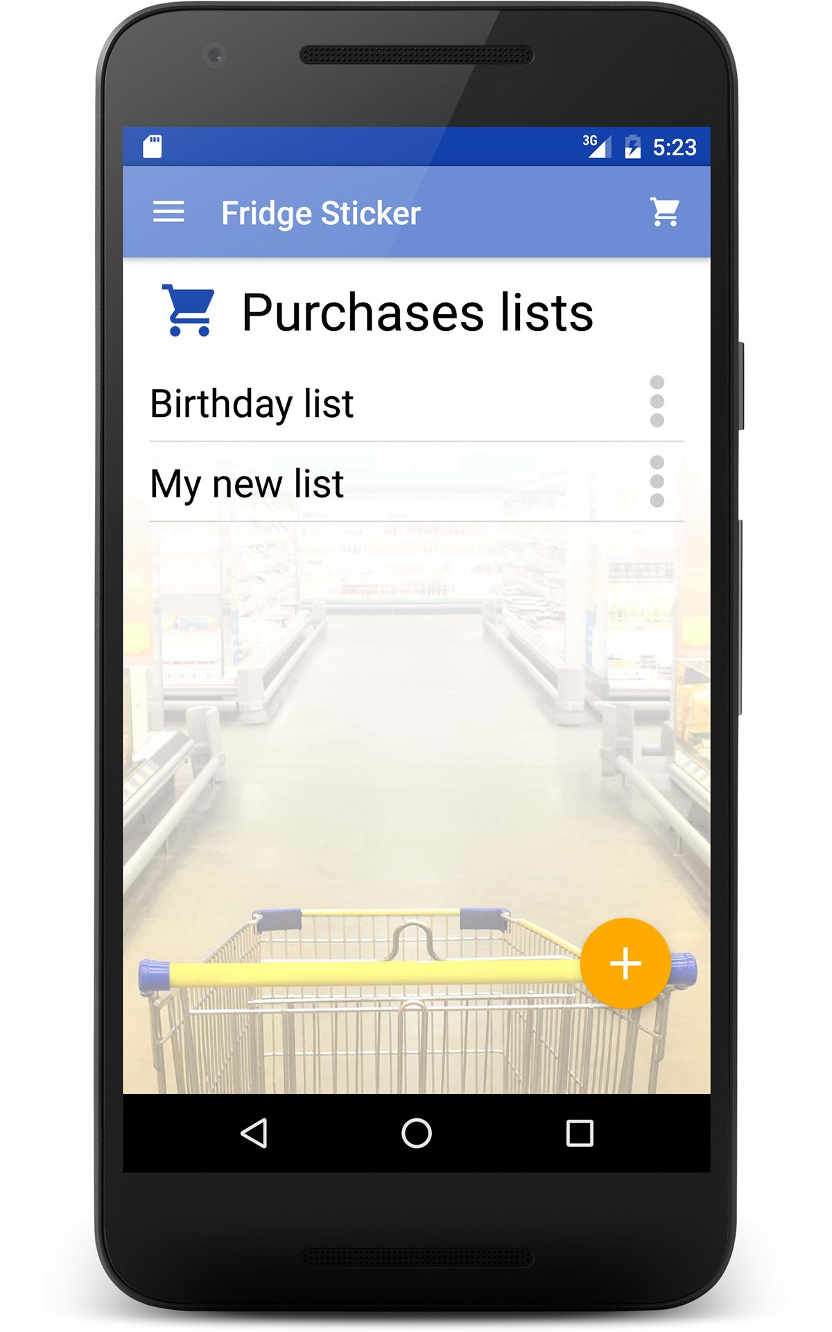 Shopping List - Fridge Sticker