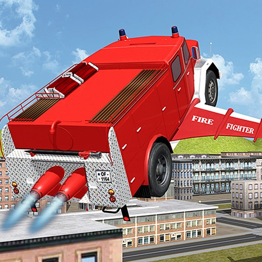 Flying Firetruck City Pilot 3D