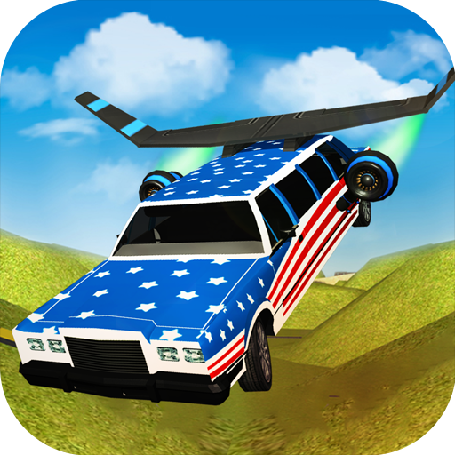 Flying Limo Car Driving Fever